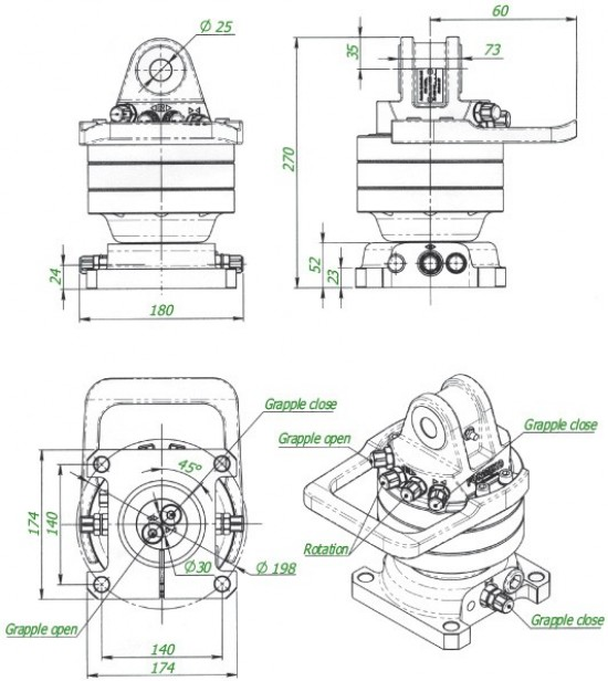 Rotator Hydrauliczny Formiko Rotators 3000 SF. FHR 3000 SF