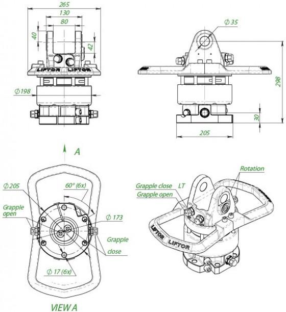 Rotator 6 t, rotator do lasu