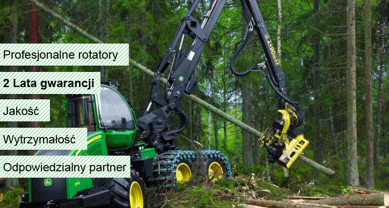 Formiko rotatory Hydrauliczne wysokiej klasy rotatory dla profesjonalistów 2 lata gwarancji lub 5000 godzin pracy