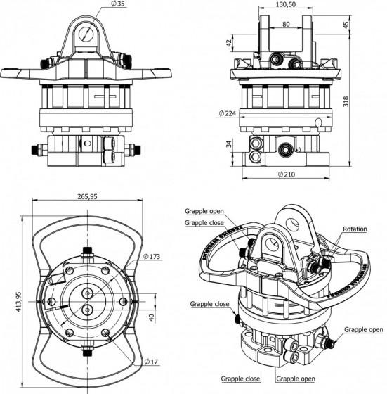 Formiko Hydraulics 10 ton loads professional rotator for