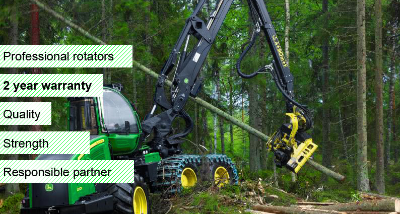 Formiko ROTATORS MAIN PAGE Proffesional rotators, better then BALTROTORS, FINN ROTOR, INDEXATOR. Rotators from FLOW – the Latvian /European manufacturer is a leader in production of the top quality equipment with the unsurpassed lifetime and dedicated for forest trailers, building cranes and truck-mounted cranes -	for stacking and for long tree trunks,  -	for forest trailers with hydraulic truck-mounted cranes,  -	for scrap holders -	for grippers. TWO YEAR WARRANTY!!!  STANDARD DESIGN WITH DOUBLE JACKET  PLACE A BET ON QUALITY  BUY ONLY ORIGINAL PRODUCTS FROM FLOW Ltd.2 year warranty- Formiko Hydraulics offer rotators with with mandrel connection  or with flange connection